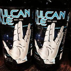 Brewed at Harvest Moon Brewery (MT) -#StartrekVulcan Ale - an Irish Red style ale brewed to celebrate Vulcan Alberta's centennial celebrations#irishale #labels#design #craftbeer #beer