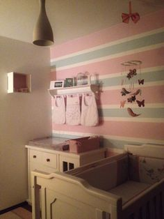 Baby girl nursery decor .