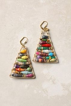 These $137 earrings are an inspiration for my next earrings project. It's made with paper baubles, like i used to made tons of when I was just a little girl. Nostalgia...