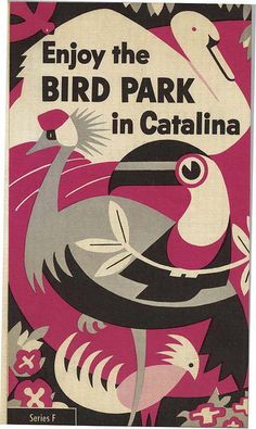 • Vintage brochure for the Bird Park on Catalina Island