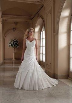 Taffeta and Lace Sweetheart A-Line Elegant Wedding Dress - Bride - Fashionweddingdress.co.uk