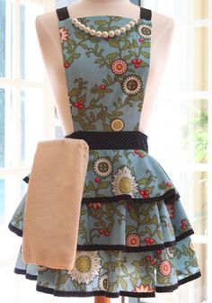 """Felicity"""" fabric makes a great apron!!"""