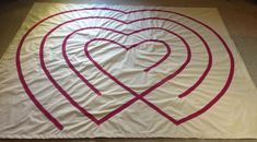 Simple & beautiful heart labyrinth design… | Guerrilla Labyrinths