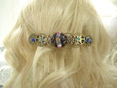 Edwardian Steampunk Barrette by PunkysRooster on Etsy NEW LISTING $19.00 Love it! Pin it! Tell Your Friends about it!