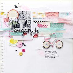 #papercrafting #scrapbook #layout idea: Suse Fish http://faithhopewashi.blogspot.co.uk