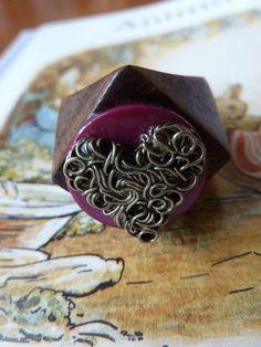 Heart wooden ring £8.00