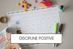 Tableaux discipline positive Discipline Positive, Education Positive, Diy Organisation, Montessori, Parenting, Positivity, How To Plan, Couture, Children