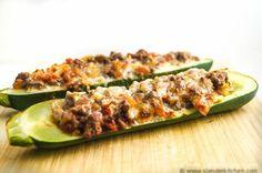 Tex Mex Stuffed Zucchini, 250 calories, 5 Weight Watchers PointsPlus, Low carb, gluten free