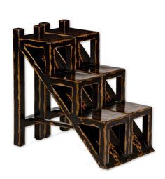 Uttermost 25523 Asher Black Accent Table Accent Furniture