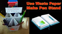Use Waste Paper to Beautiful Pen Holder || Full Video At  F2BOOK Video 91