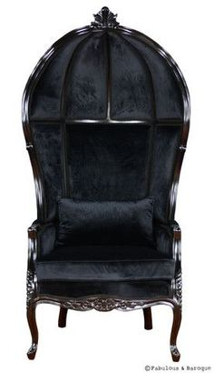 Seriously, what says Gothic better than a Victorian balloon chair THRONE?