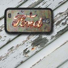 Rusted Ford Emblem Design on Samsung Galaxy S4 by EastCoastDyeSub
