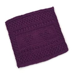 Dishcloth  Plum Hearts Washcloth Available Only  at
