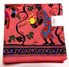 Vivienne Westwood Handkerchief scarf bandana Cotton Pink Auth New Collectable #VivienneWestwood #Bandana