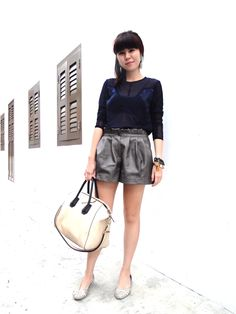 People who W.E.D. ('Wear Emerging Designers')    #9. Michelle    Occupation: Marketing    What are you wearing: top by Mae Pang    http://www.facebook.com/BlueprintSingapore?sk=app_134506053246185