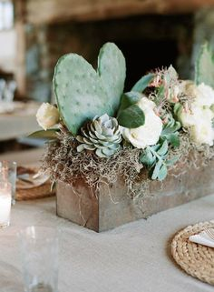 Cactus shaped like heart!!!   Ultimate Inspiration Guide for Succulents at your Wedding | Bridal Musings Wedding Blog 20