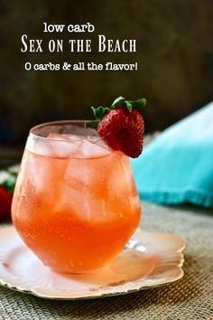 Tropical Sex on the Beach drink is a fruity cocktail with 0 carbs. From Lowcarb-ology.com