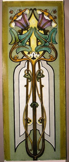What a beautiful piece of Stained Glass! It is a work of Art for a long window for sunshine to work its magic.....