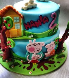 tort świnka peppa, peppa cake, dekoracja angielska gdańsk