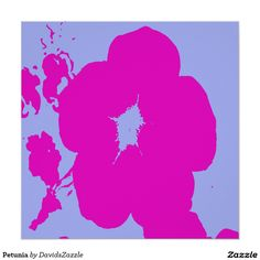 Petunia Poster Print  Available on more products! Type in the name of the design in the search bar on my Zazzle Products Page. Thanks for looking!  #flower #floral #abstract #art #zazzle #buy #sale #pattern #print #all #over #pink #blue #nature #planet #earth #poster #wall #decor