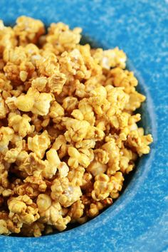 Homemade Microwave Caramel Popcorn made in Minutes! the best kind of fast food. It is low-fat, gluten free, inexpensive and a great snack food.