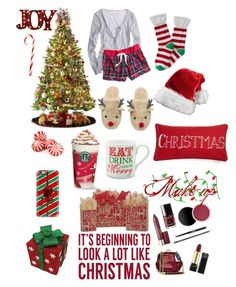 """IT'S CHRISTMAS EVE!!!! "" by hannah7223 ❤ liked on Polyvore featuring General Foam, Order Home Collection, Aéropostale, Casetify, Levtex and Sixtrees"