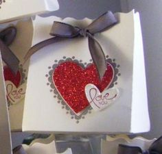 Thursday, February 16, 2012 valentines fancy favor box by Inky_cheeks - Stampin Up! Sweetheart Stamp Set