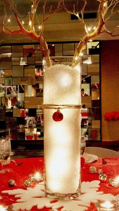 Reindeer Christmas Centerpiece
