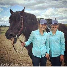 Amber and her stunt double Lindy. #iloveheartland