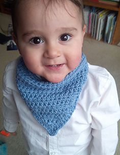 Crochet baby bandana bib! Has a soother attachment too. So cute. Raverly pattern.