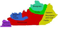 Regions of Kentucky. **Knobs has since been absorbed into the Bluegrass region**
