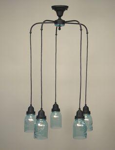 Lighting Mason Jar Light Fixture Kitchen Vintage Fixtures