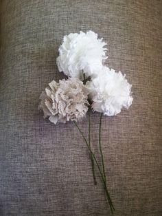 Lace Flowers, Unique Decor,  Wedding Table, Table Baptism, Shower Decor, Table Decor, Holiday Decoration by MilenaCrochet on Etsy https://www.etsy.com/listing/211218800/lace-flowers-unique-decor-wedding-table