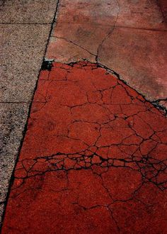 buff + dark rust--Michael Lusk. Concrete crackle, marble structure.