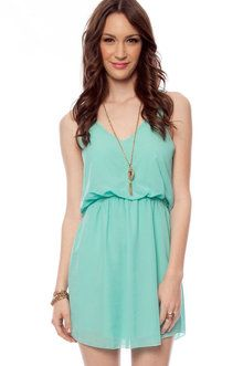 Mint dress. Love this style more than color. I'd take it in black, pink, purple and red though. Maybe a dark blue as well