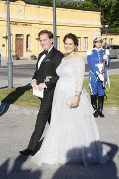 Chris O'Neill and Princess Madeleine arrive at the pre wedding dinner (12/06/2015)