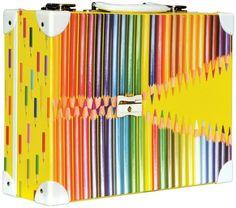 Školní kufřík velký - 35x25x11cm č. 21748 HK Velký  Barevné tužky Bunt, Office Supplies, Pencil, Pencil Grades, Gifts