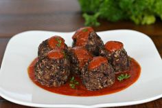 "Mushroom Black Bean ""Meatballs"" {Gluten Free}"