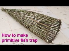"""Today we would like to present you """"DIY Fish Trap"""" or """"How to make primitive fish trap"""". All of us trust you enjoy our video clip concerning """"How to make fis. Survival Life Hacks, Survival Food, Homestead Survival, Wilderness Survival, Camping Survival, Survival Prepping, Emergency Preparedness, Survival Skills, Off Grid Survival"""