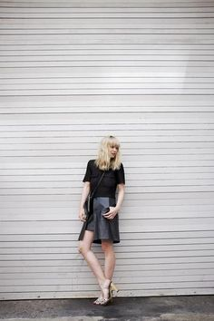30 ways to wear a black leather skirt // Just Another 2