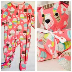 Keepsake Memory Stuffed Bear made from an outfit by CrazyLeggies