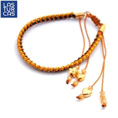 #LTurca Tejida en cordón de cuero con cristales ámbar :) #TiendaOnline #accesorios