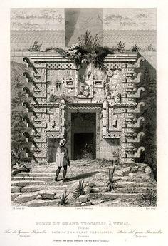 uxmal.04 | by michaelgoard.com Tikal, Aztec Architecture, Aztec Empire, Gaia, Step Pyramid, Mesoamerican, Mayan Ruins, Antique Prints, Ancient Civilizations