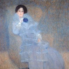 oilpaintinggallery:Portrait of marie henneberg by Klimt, Oil painting reproductions