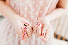 Learn how to do these adorable Yayoi Kusama x Louis Vuitton inspired nails over at PARK & CUBE.