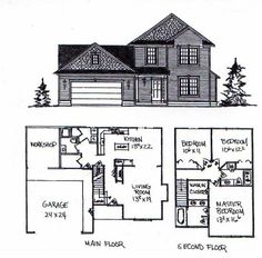 Two Story Houses on foursquare house plans