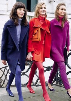 Via:LuckyMagazine 40 Pretty Winter Outfits That'll Convince You To Ditch Your Plain Black Tights