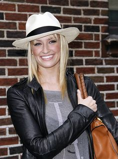 Beth Behrs leaves 'The Late Show with David Letterman' at Ed Sullivan Theater on May 7 2012 in New York City