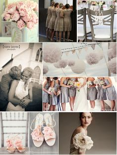 Color Choice: White, taupe, and light pink.