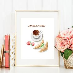 Coffee print Instant download Coffee art print Coffee poster Coffee printable But first coffee Coffee lover gift Kitchen art Coffee time